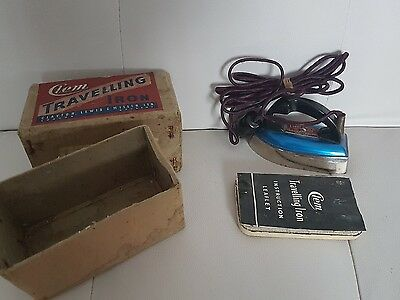 Vintage Clem Travelling Iron  British Made - Boxed - 1940's/50's