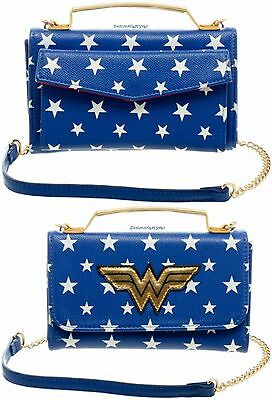 Licensed DC Comics Wonder Woman Inside Out Cross-Body Wallet Clutch New!