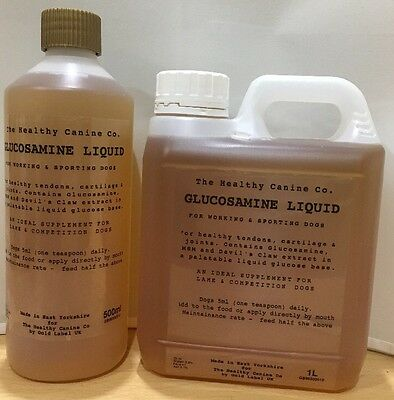 Dog Glucosamine Liquid with MSM & Devil's Claw 1L Hip & Joint Aid Pain Relief
