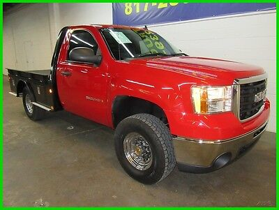 2009 GMC Sierra 2500 Work Truck 2009 GMC 2500 Reg Cab 4x4 V8 Low Miles Serivce Contractor Flatbed