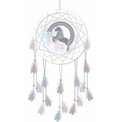 Magical Unicorn and Rainbow Design Small Dreamcatcher Little Girl Gift 16cm