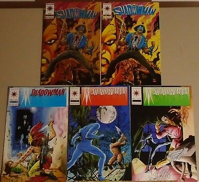 Shadowman 1 2 3 pre-Unity set + #0 chromium & flat high grade lot of 5 Valiant