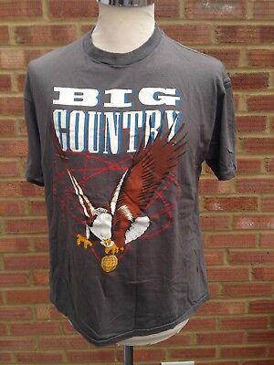 "Big Country TShirt 1986 The Seer Tour Merchandise Eagle Mark Brzezicki 42"" XL"