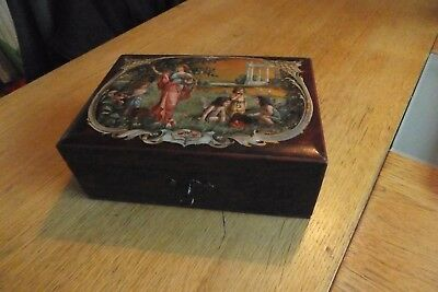 Victorian  Jewellery Box With Lock And Key