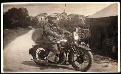 Motorcycle# Dxy159.  Real Photo  Vintage Postcard