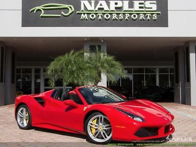 2017 Ferrari Other Base Convertible 2-Door 2017 Ferrari 488 Spider - RED SEAT BELTS - DIAMOND STITCHED SEATS - POWER SEATS