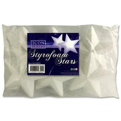 Icon Craft Polystyrene Stars Size 130mm  (Pack of 6) Christmas Crafts