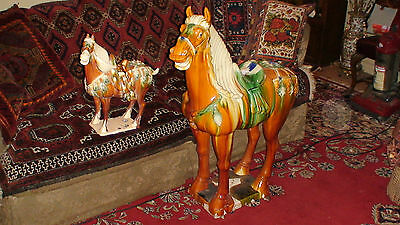 Sancai Glazed Chinese Tang Dynasty War Horse