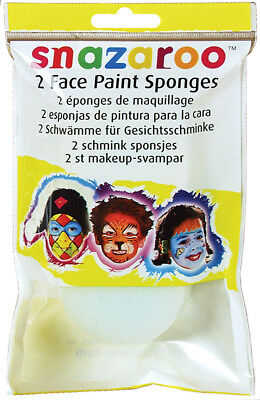 Snazaroo Face Paint Sponges 2/Pkg High Density 1198010