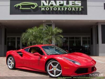 2017 Ferrari Other Base Coupe 2-Door 2017 Ferrari 488 GTB - RED CALIPERS - CARBON FIBER SIDE VENTS