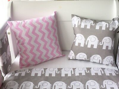 Handmade Cushion Cover Pink Chevron Zig Zag 💝