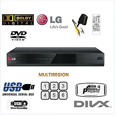 LG DP132  Multi Region Free All Format DVD PLAYER USB XVID SCART LEAD , NO HDMI