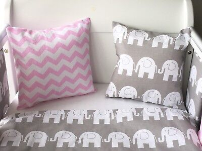 Handmade Cushion Cover Pink Chevron Zig Zag 💗