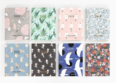 2018 Diary – LIVELY DIARY Monthly Weekly Planner (2017 Nov ~ 2018 Dec) 140x195mm