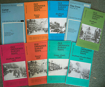 Job lot OS maps Godfrey editions Yorkshire and Cheshire
