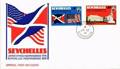 Dr Jim Stamps United States Independence Fdc Combo Seychelles Cover 1976