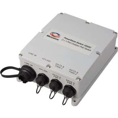 NEW Microsemi PoE PDS-102GO/AC/M 2+1 Outdoor Switch Injector 2 Port 30W