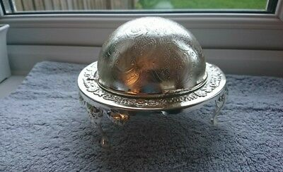 silver plated butter/caviar dish