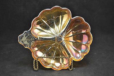 Vintage Marigold Carnival Glass divided dish  ND3068