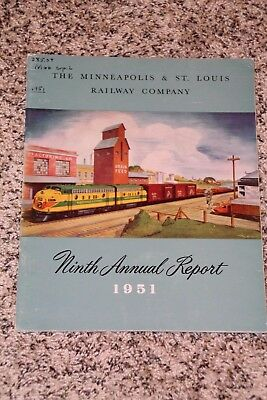 MINNEAPOLIS & St LOUIS RAILWAY 1951 Annual Report