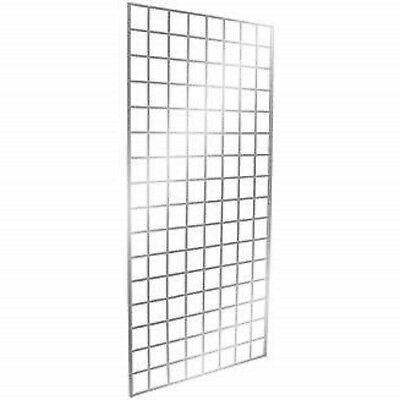 Only Hangers Commercial Grid Panels, 2' x 6' Chrome (Pack of 3)
