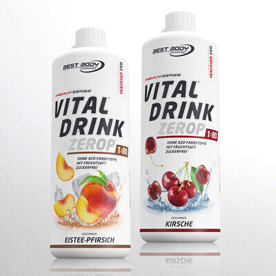 10,00€ /Ltr. Best Body Low Carb Vital Drink  2 x 1 Ltr. Getränkekonzentrat Sirup