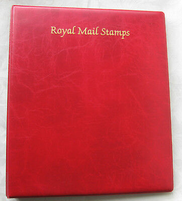 Royal Mail Stamps red luxury ring album with S.G. hingeless GB pages. 2004-06