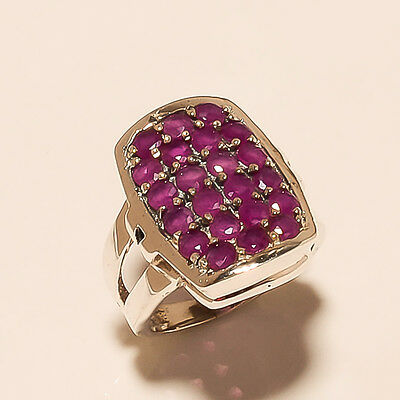 Natural African Ruby Gemstone 925 Sterling Silver Ring Women wedding jewelry New