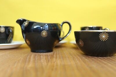 Alfred Meakin Midnight Star Expresso Coffee Set - Vintage / Retro