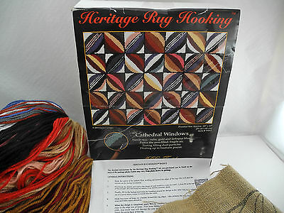 "Cathedral Windows Heritage Rug Hooking Kit by MCG Textiles - 20"" x 27"""