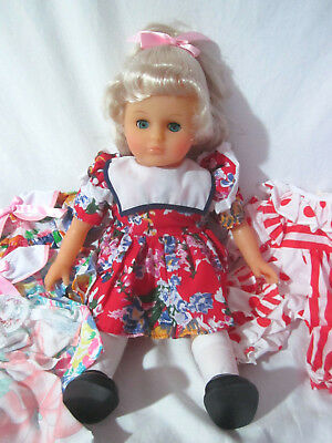 New ISSI Germany Anneliese Batz Soft Vinyl Blonde Doll 4 Dresses Sleeps 15""
