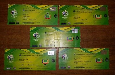 Set of 5.x 2006 WORLD CUP GERMANY ALL ENGLANDS GAMES