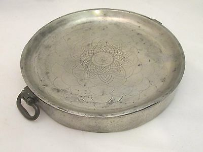 A Fine Early 19th Century Pewter Dish Warmer by Cocks of London