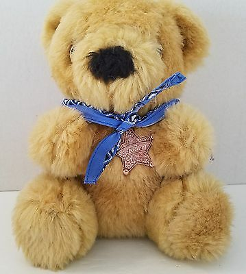Beariff The Sheriff Teddy Bear Plush Stuffed Animal Brown Vintage 1986 Avon 7""