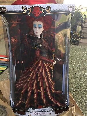 "Disney Store Iracebeth Red Queen Limited Edition Doll 17"" Alice Looking Glass LE"