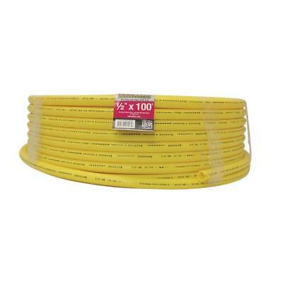 Underground Gas Pipe Hose Polyethylene Plumbing Standard Durable Yellow 100ft