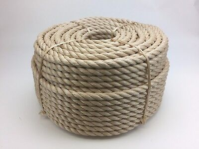 50MTS x 32MM THICK FOR GARDEN DECKING ROPE, SYNTHETIC, SISAL, SYNTHETIC SISAL