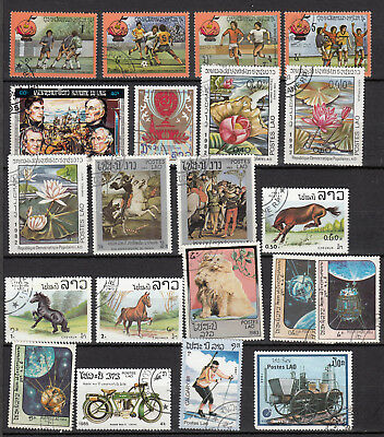 LAOS LAO 1982 1985 21 stamps