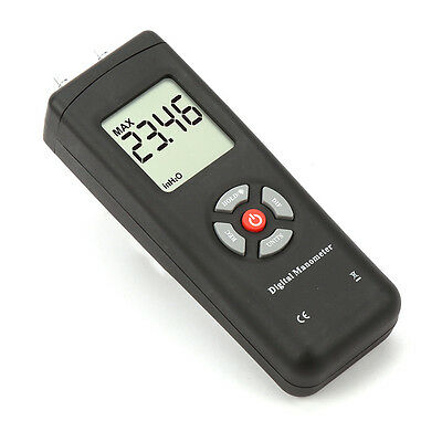 ±2psi LCD Differential Air Pressure Meter Digital Electronic Manometer Tester UK