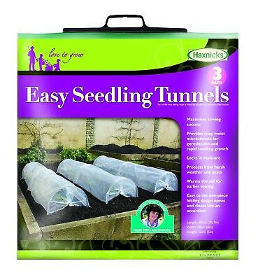 Haxnicks Easy Seedling Tunnels (3 per Pack) protect from frost rain& pests