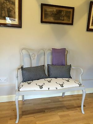 Stunning Georgian Re-Upholstered Parlour Chair Settee