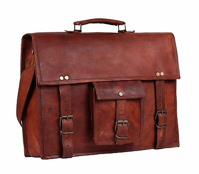 15 inch leather bags messenger bags shoulder school office bags for men & women