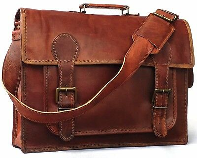 18 Inch leather bags briefcase Shoulder messenger laptop bags for men and women