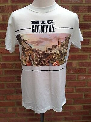 Big Country TShirt 1989 Peace In Our Time Tour Merchandise Mark Brzezicki 38""
