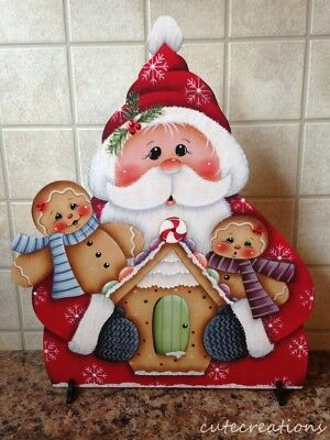 HP SANTA with GINGERBREAD SHELF SITTER