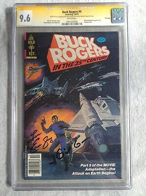 Buck Rogers #4 CGC SS 9.6 WP Random House File Signed by Gil Gerard & Erin Gray