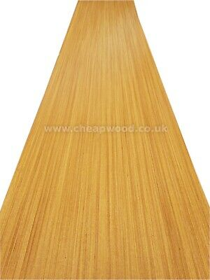 "African Teak Veneer  2800mm x 310mm / 110,2"" x 12,2""  Wood Veneer Sheet"