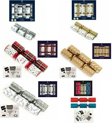 "6 x 8"" Mini Luxury Tom Smith Christmas Tree Crackers Gold, Tartan"