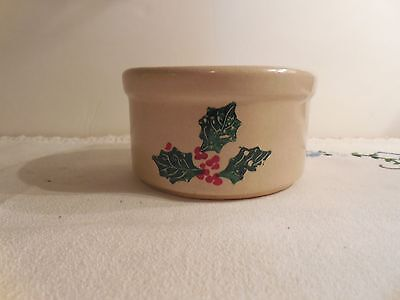 "Robinson Ransbottom Christmas Holly  4"" Ramekin - USA"