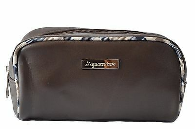 Aquascustum Limited Edition Brown Make Up/toiletry/travel Bag For Aeromexico